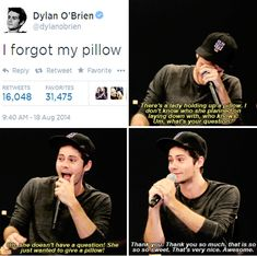 Teen Wolf - Stiles Stilinski: because we all know Stiles can't sleep without his pillow