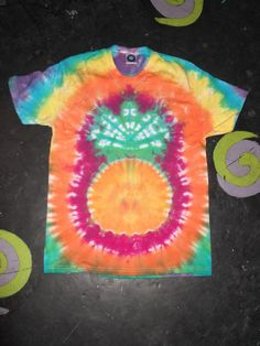 Tie Dye pineapple T shirt UNISEX S-5XL by TheHippyHole on Etsy