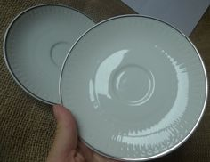 Old German Pottery Lorenz Hutschenreuther White Plates saucer 2psc. Germany