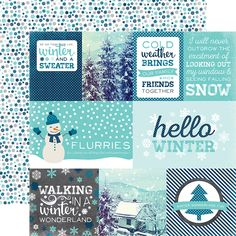 Echo Park - Hello Winter Collection - 12 x 12 Double Sided Paper - Journaling Cards at Scrapbook.com