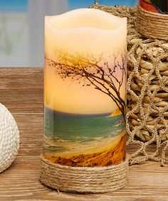 Love this Beach Scene LED Candle by DecoBreeze on #zulily! #zulilyfinds