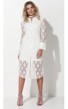 Mossman The Squares In Madrid White Dress