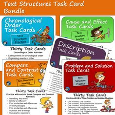 Text Structure Task Card Bundle by Classroom in the Middle | TpT