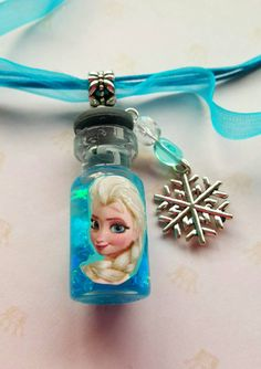 My new Elsa Fairy Bottle!  See it in my Etsy shop https://www.etsy.com/listing/259575231/new-elsas-frozen-magic-necklace-with
