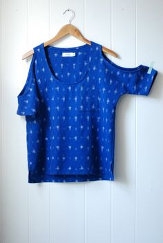Ikat cut out sleeve top. No longer available for purchase. Darn. Must learn to sew clothing.