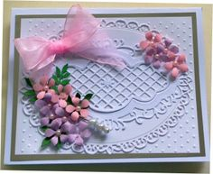 white card using spellbinders elegant ovals and marianne dies  www.delabur.co.uk