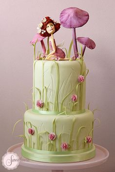 Baby Shower Cake. Fairy Tale Garden Cake. www.sweetnessonline.co.uk