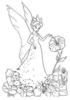 printable fairies drawlings   Free Printable Pictures Coloring Pages ...