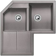Buy Anthracite Blanco Metra 9 E Double Right Hand Bowl Corner Inset Kitchen Sink from our Kitchen Sinks range at John Lewis & Partners. Blanco Kitchen Sinks, Blanco Sinks, Corner Sink Kitchen, Kitchen Sink Design, Angles, Double Oven Kitchen, Draining Board, Shopping, Kitchens