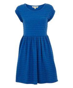 Look what I found on #zulily! Blue Tiered Cap-Sleeve Dress #zulilyfinds