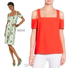 Sew the Look: Butterick B6048 cold shoulder top