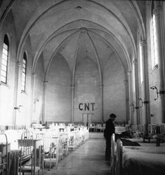 Kati Horna. Former Church,  Currently Serving as a Hospital Run by the Anarcho-Syndicalist Group Confederación Nacional del Trabajo (CNT) During the Spanish Civil War   1937