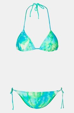 Topshop Tie Dye Bikini available at #Nordstrom   I am thinking Tie Dye for my swim suit this year. I did the Neon and black last year... what do you think?