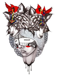 By Chelsea Brown. American Illustration, Digital Illustration, Chelsea Brown, Sculpture Museum, Medicine Wheel, Pop Culture Art, Brown Art, Elements Of Art, Native American Art