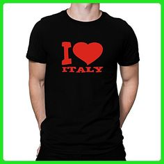 Teeburon I LOVE Italy T-Shirt - Cities countries flags shirts (*Amazon Partner-Link)