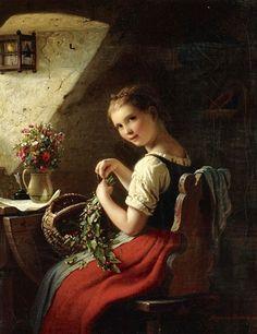 Making A Bouquet ~Johann Georg Von Bremen