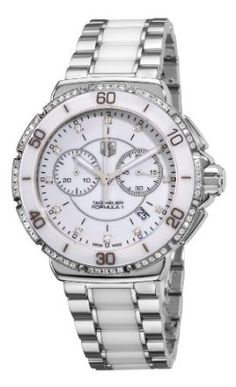 SALE!! TAG Heuer Women's CAH1213.BA0863 Formula One White Diamond Chronograph Watch REVIEW