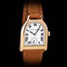 Ralph Lauren 18k RG Stirrup Men's Watch. Piaget Movt. White Enamel Dial.  Rare #Piaget