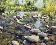 "Willow Creek by Mike Wise Oil ~ 16"" x 20"""