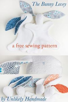 UNLIKELY: The Bunny Lovey: A Free Sewing Pattern with Illustrated Instructions