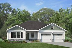 Roanoke - Fine Line Homes Meet the Roanoke! - This sq ft Ranch features 3 bedrooms, 2 bathroom Custom Home Builders, Custom Homes, Building Design, Building A House, Wainscoting Bathroom, Kitchen Dining Living, Construction Drawings, Lake Cabins, Ranch House Plans
