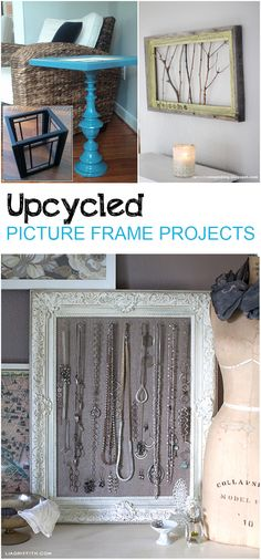 Picture Frame Ideas- 10 Uses for Your old Picture Frames Upcycled Picture Frame idesa- 10 Creative uses for old picture frames.Upcycled Picture Frame idesa- 10 Creative uses for old picture frames. Picture Frame Projects, Old Picture Frames, Old Frames, Frames Ideas, Crafts With Picture Frames, Picture Frame Decorating Ideas, Upcycled Crafts, Shabby, My New Room
