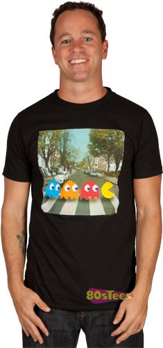 FOR JEFF:   Abbey Road Pac Man Shirt  XXL