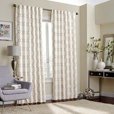 Regent Court Embroidered Lattice Curtain Products
