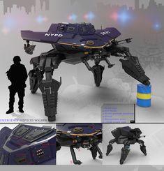 Sentry Gun concept art for a video game
