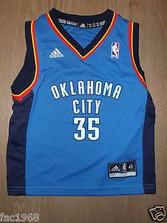 f6d7e4fc5 Kids  youth nba basketball jersey top vest  oklahoma city 35 durant 4  years
