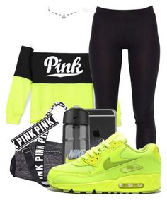 """""""Untitled #357"""" by kenziesg ❤ liked on Polyvore featuring Victoria's Secret PINK and NIKE"""