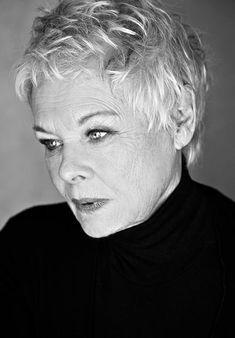 Judi Dench photographed by Sarah Dunn.