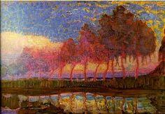 Piet Mondrian, trees along the river Gein, 1908