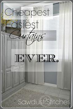 – Cheapest and Easiest Curtains, EVER!