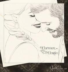 Invitatie de nunta la comanda cu portretul desenat al mirilor   YorkDeco - Atelier Invitatii Nunta Originale si Unicat Gatsby, Female, Wedding Ideas, Art, Atelier, Craft Art, Kunst, Gcse Art, Sanat