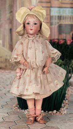 German Bisque Flapper Doll,401,by Marseille with Rare Original Flapper Body