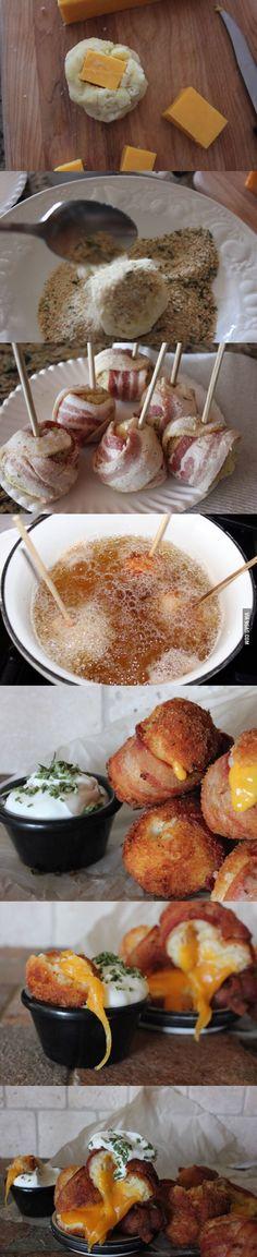 Introducing...Mashed Potato Bacon Bombs! Fry em up. You're welcome...దీని  రుచే వేరు తిని చూడండి <3