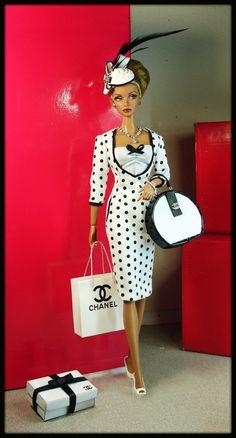 Uno de una clase Fashions para Silkstone/Vintage Barbie/Fr-con bolsillos con cremallera & | eBay