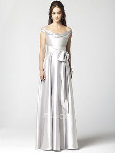 ELEGANT BRIDESMAIDS DRESSES 2015   Elegant Silver Bridesmaid Dress Off The Shoulder Stretch with Natural ...