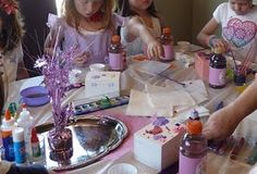 very cute Jewel birthday party with crafty activities for the kids