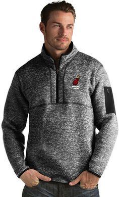 Antigua Men s Miami Heat Fortune Pullover Half Zip Pullover 224d375bd9