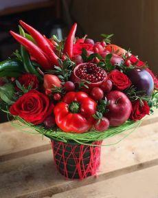 Shared by Carla Orchid Flower Arrangements, Beautiful Flower Arrangements, Edible Arrangements, Floral Centerpieces, Food Bouquet, Diy Bouquet, Edible Bouquets, Floral Bouquets, Vegetable Bouquet