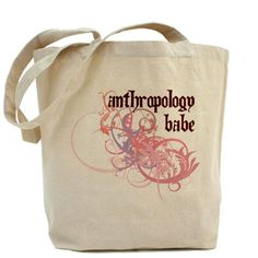 CafePress - Anthropology Babe Tote Bag - Natural Canvas Tote Bag, Cloth Shopping Bag * Want to know more, click on the image.