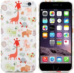 """myLife White, Green, and Orange {Cute Baby Animals and Leaves} 2 Piece Snap-On Rubberized Protective Faceplate Case for the NEW iPhone 6 (6G) 6th Generation Phone by Apple, 4.7"""" Screen Version """"All Ports Accessible"""" myLife Brand Products http://www.amazon.com/dp/B00U0GQ5CQ/ref=cm_sw_r_pi_dp_5Zgfvb12HFN35"""