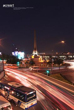 victory monument, Bangkok Thailand by Pcreart, via Flickr