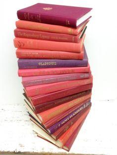Pink and Purple Books,17 Books,Baby Shower, Wedding,Bridal Shower by beachbabyblues, $115.00