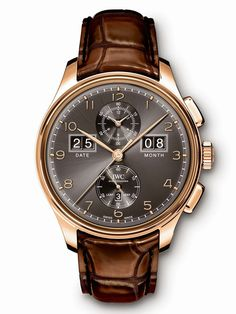 """IWC – Portugieser Perpetual Calendar Digital Date-Month Edition Anniversary"""". Model featuring a large digital display for the date and month. Iwc Watches, Cool Watches, Watches For Men, Unique Watches, Prime Watches, Latest Watches, Monochrome Watches, Rolex, International Watch Company"""