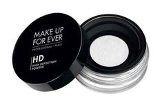 Make Up For Ever HD Microfinish Powder for a perfect close-up.