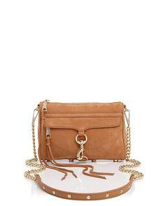 Rebecca Minkoff Mini MAC Nubuck Crossbody - Almond Gold Cross Body  Handbags e7d7e9f7decb2
