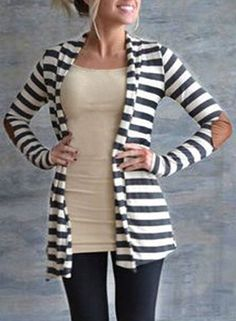 $10.72 for this Stylish Long Sleeve Striped Slimming Women's Blouse <3